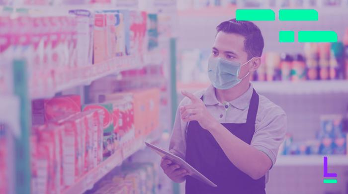 tecnologias avanços pos covid empresário em supermercado